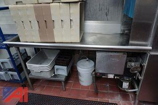 Clean Dish Table and U Shaped Solid Table