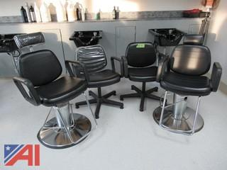 Hydraulic Barber Chair /Hair Styling Station Chair & Reclining Shampoo Chairs