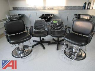Hydraulic Barber Chair /Hair Styling Station Chairs & Reclining Shampoo Chairs