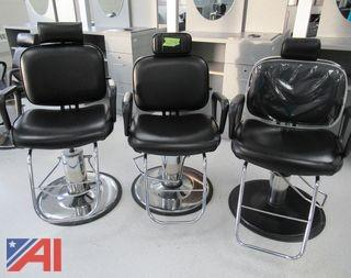 Hydraulic Cosmetology/Barber Chairs and Milo Hooded Hair Dryers