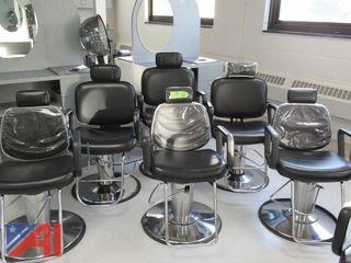 Hydraulic Cosmetology/Barber/Hair Styling Work Station Chairs