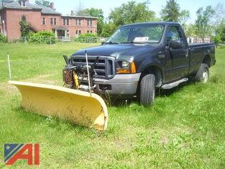 2006 Ford F350 XL Super Duty Pickup Truck with Plow