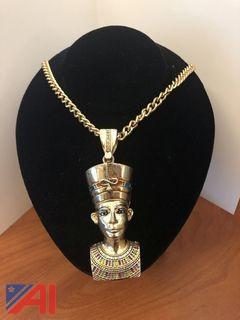Gold Tone Chain and Egyptian Looking Charm