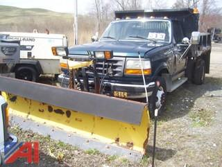 1997 Ford F450 Super Duty Dump Truck with Plow