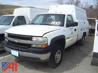 2002 Chevy Silverado 2500HD Enclosed Utility Truck