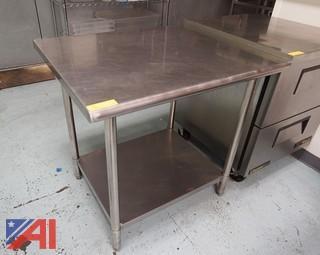 "Advance 36""x 30"" S/S Utility Table"