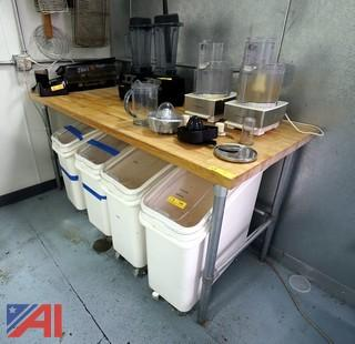 """Commercial 6'x 30"""" Butcher Block Cutting Table"""