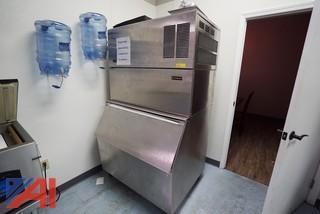 Kold Draft T281 Automatic Ice Crusher/Cuber with KDB650 Ice Storage Bin, 650lbs