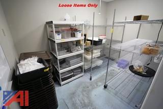 Loose Items In Room, Shelving, Totes & Misc.