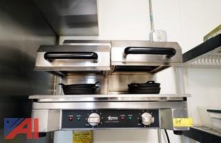 Omcan 39582 Adjustable Double Salamander/Boiler