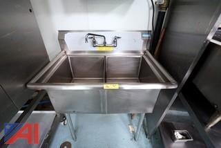 """BK Resources 2 Bay S/S 36"""" Sink"""