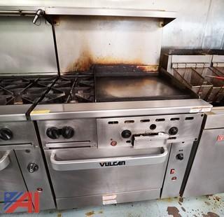 Vulcan Two Burner/Griddle Range & Oven