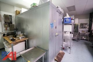 """Norlake 9' x 10' x 91""""H Panel Type Walk-In Cooler with Shelving"""