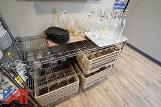 Metro Style Rack with Glassware Stock and Wash Racks