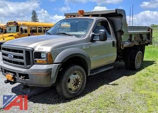 2005 Ford F550 XL Super Duty Dump Truck