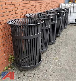 Steel Garbage Can Receptacles