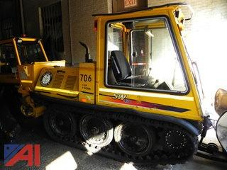 2002 Bombardier 706 Side Walk Snow Plow with Rear Sander