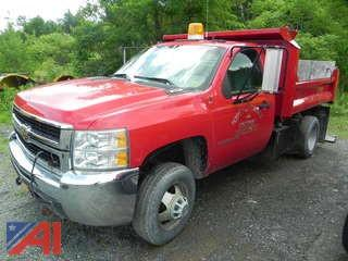 2009 Chevy Silverado 3500 HD Dump Truck with Plow