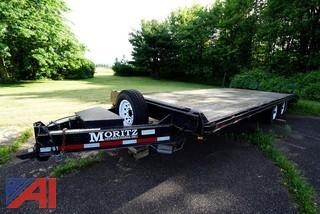 2007 Moritz FBBL +5-20 Deckover Equipment Trailer with Ramps