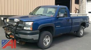 2003 Chevy Silverado 2500HD Pickup Truck with Plow