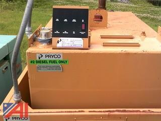 Pryco Above Ground Manual Day Tank,150 Gallon Diesel Fuel Tank