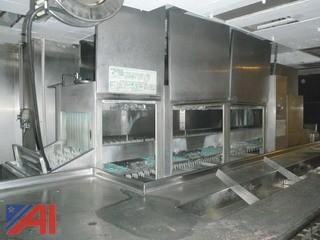 (#126) Stainless Steel Commercial Dishwasher Set Up
