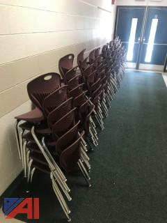 Small Maroon Student Chairs