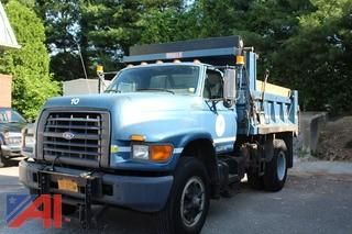 1997 Ford F800 Dump Truck with Plow