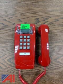 Red Wall Hanging Phones