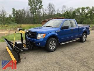 2014 Ford F150 STX SuperCab Pickup Truck with Plow