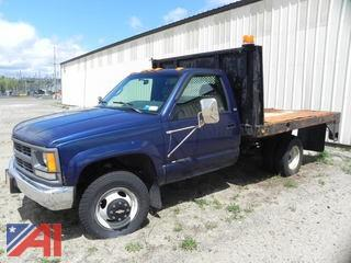 1996 Chevy C/K 3500 Flatbed Pickup Truck