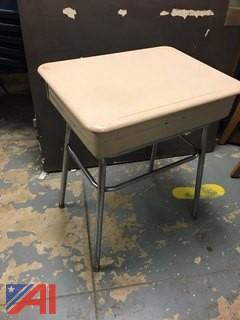 Adjustable Student Desks and Plastic Student Chairs-Blue