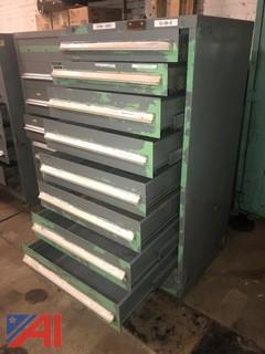 Eight Drawer Stanley Vidmar Tool Cabinet