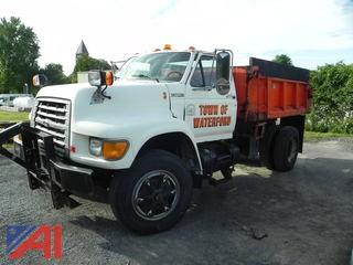 1998 Ford F800 Dump Truck with Plow