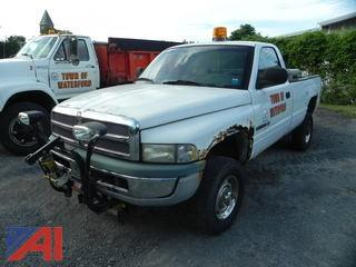1999 Dodge Ram 2500 Pickup Truck with Plow
