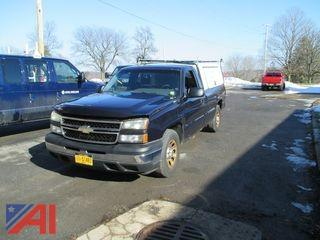 2006 Chevy Silverado 1500 Pickup Truck with Cap