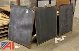 Brass Framed Slate Chalkboard