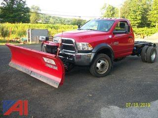 2014 RAM 5500 Cab Chassis Truck with Plow