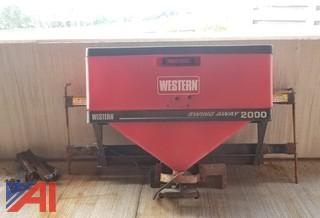 2005 Western Swing Away 2000 Tailgate Salt Spreader w/ Controller