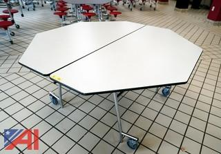 """Midwest 60"""" Roll & Fold Hexagon Tables"""