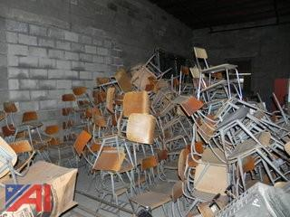 Large Lot of Various Student Chairs