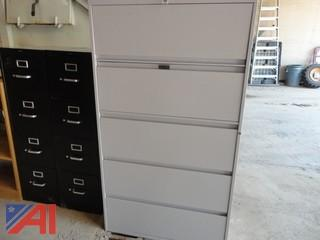 Wide File Cabinet and Four Drawer File Cabinets