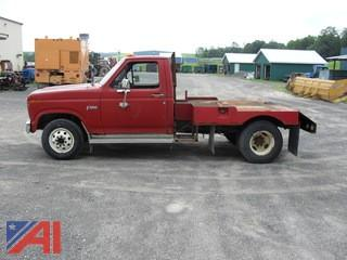 1984 Ford F350 Flatbed Pickup Truck