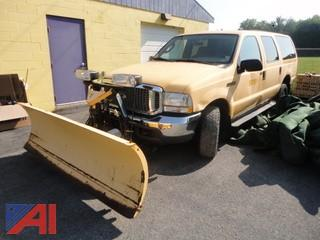2004 Ford Excursion XLT SUV & Plow