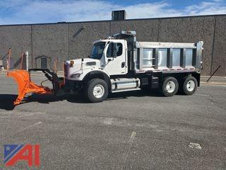 2009 Freightliner M2 112 Tandem Dump Truck with Plow