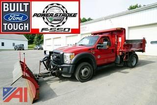 2012 Ford F550 Super Duty Dump Truck with Plow