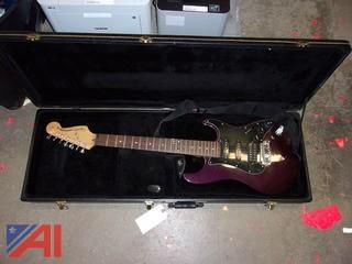 Squire Stratocaster Guitar and Case