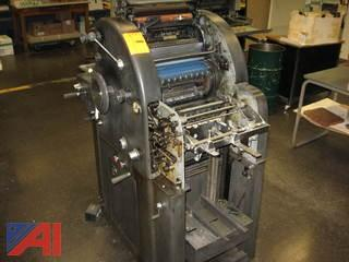 A.B. Dick 350 Printing Press and Metal Plate Burner