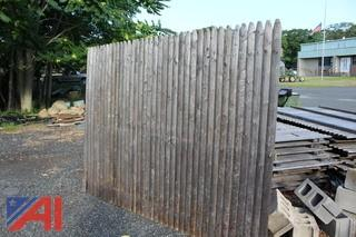 Wood Stockade Fencing