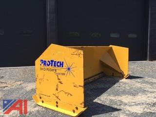 8' Protech Skid-Steer Snow Pusher